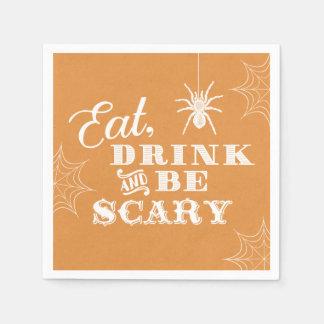 Orange essen Getränk und sind beängstigendes Papierserviette
