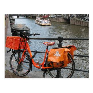 Orange Fahrrad-Postkarte Postkarten
