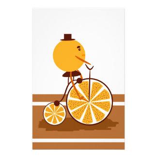 Orange Fahrt Briefpapier