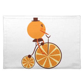 Orange Fahrt Tischset
