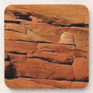 orange Felsen der trockenen Wüste Untersetzer