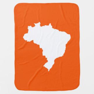 Orange festliches Brasilien bei Emporio Moffa Kinderwagendecke