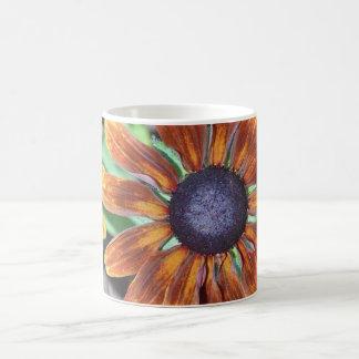 Orange Feuer-Gänseblümchen Kaffeetasse