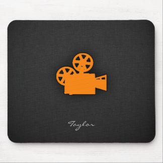 Orange Film-Kamera Mauspads