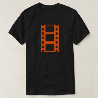 Orange Film-Streifen T-Shirt