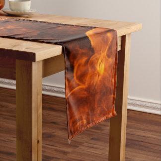 Orange Flamme Kurzer Tischläufer