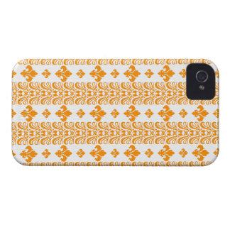 Orange Fleur Streifen-1 iPhone 4 Hüllen