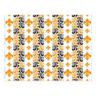 Orange Fleur Streifen-1a Postkarten