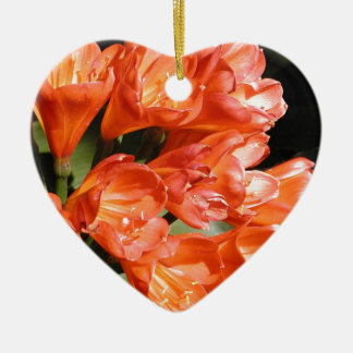 orange flowers keramik ornament
