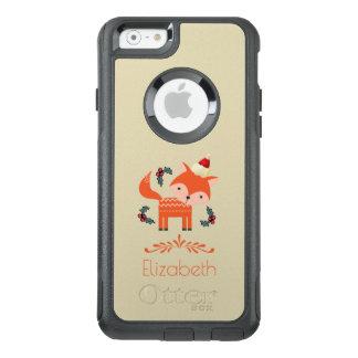 Orange Fox im Weihnachtsmannmütze-niedlichen OtterBox iPhone 6/6s Hülle