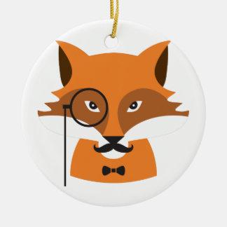Orange Fox Keramik Ornament