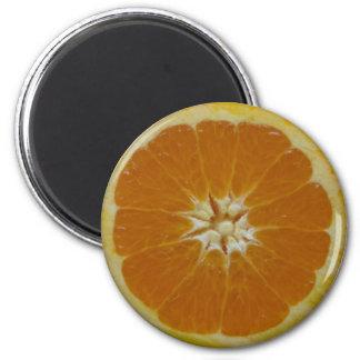 Orange Frucht-Scheibe-Magnet Runder Magnet 5,1 Cm