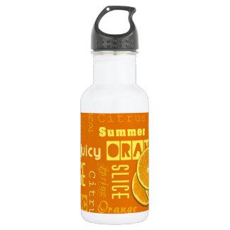 Orange Frucht schneidet Typo - Wasser-Flasche Trinkflasche