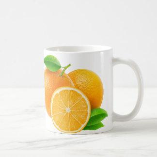 Orange Früchte Kaffeetasse