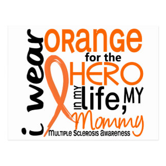 Orange für Mama Mitgliedstaat-multiple Sklerose Postkarte