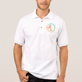 Orange Fußball-Kreis-Logo Polo Shirt