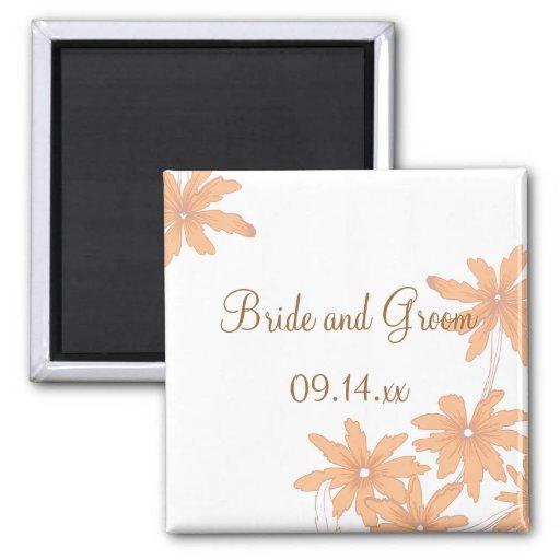 Orange Gänseblümchen, die Magneten Wedding sind Magnets