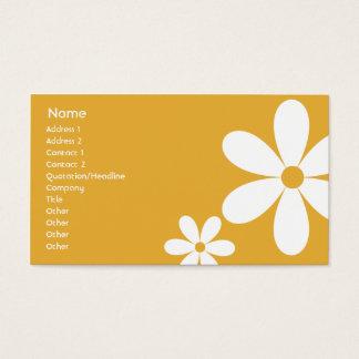 Orange Gänseblümchen - Geschäft Visitenkarte