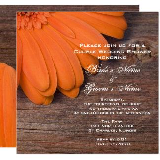 Orange Gänseblümchen-und Quadratische 13,3 Cm Einladungskarte