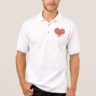 Orange Gartennelken-Herz-Polo-Shirt Polo Shirt