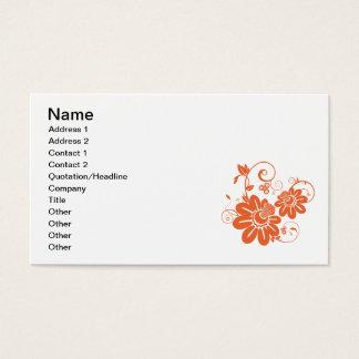 Orange Geißblatt-Blüte und Rebe Visitenkarte