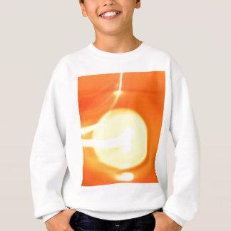 Orange Gelb-Flammen-Kerzen-Licht, Kunst Sweatshirt