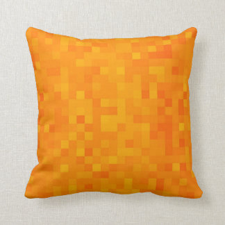 Orange Gelb-goldenes Kissen
