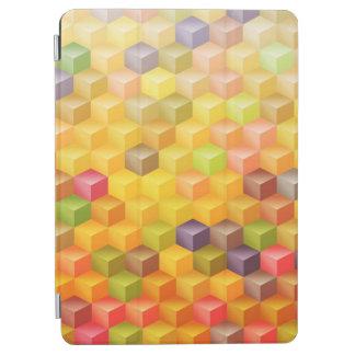 Orange Gelb-rotes Kubismus-Kunst-Muster iPad Air Cover