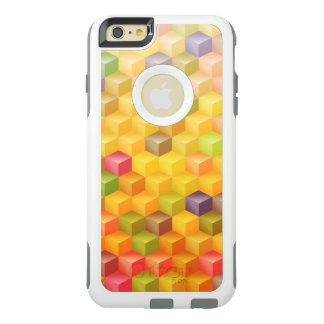 Orange Gelb-rotes Kubismus-Kunst-Muster OtterBox iPhone 6/6s Plus Hülle
