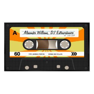 Orange/gelbe Kassette Visitenkartenvorlage