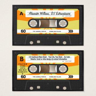 Orange/gelbe Kassetten-Musik DJ Visitenkarten