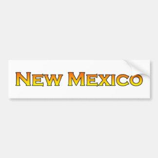 Orange gelber Text New Mexiko USA Autoaufkleber