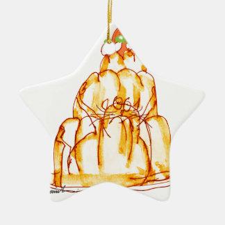 orange Geleekatze der tony fernandess Keramik Ornament