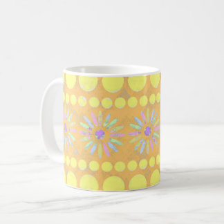 Orange gemustert kaffeetasse