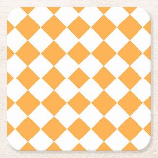 Orange geometrisches Coster Rechteckiger Pappuntersetzer