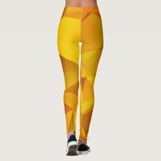 Orange geometrisches leggings