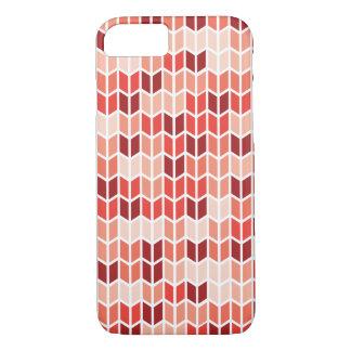 Orange geometrisches Muster iPhone 7 Hülle