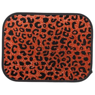 Orange Geparddruckneonmuster Automatte