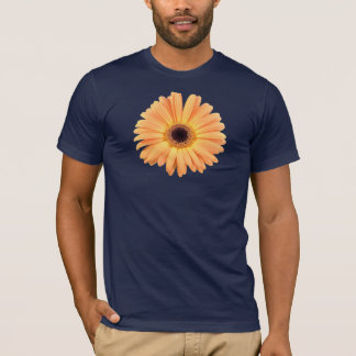 Orange Gerbera-Blau-T - Shirt
