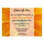 Orange Gerbera-BlumenAbschluss-Einladung