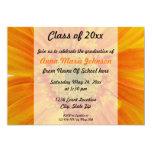 Orange Gerbera-BlumenAbschluss-Einladung 12,7 X 17,8 Cm Einladungskarte