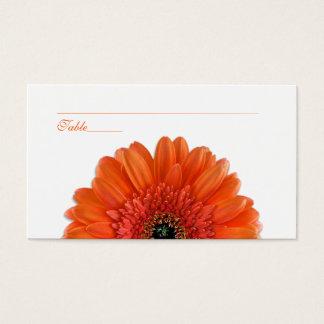 Orange Gerbera-Gänseblümchen-Anlass-Platzkarten Visitenkarte