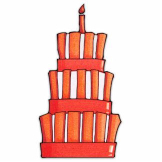 Orange gestreifte Kuchen-Foto-Skulptur Freistehende Fotoskulptur