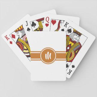 Orange gestreiftes kundengerechtes spielkarten