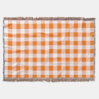orange Gingham-Karo Decke
