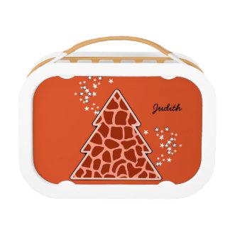 Orange Giraffe Weihnachtsbaum Brotdose