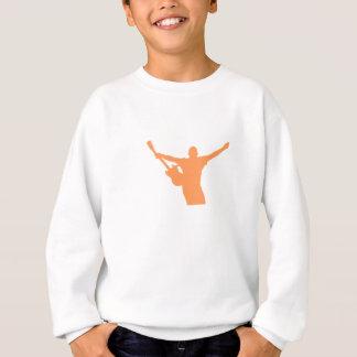 Orange Gitarren-Spieler-Silhouette Sweatshirt