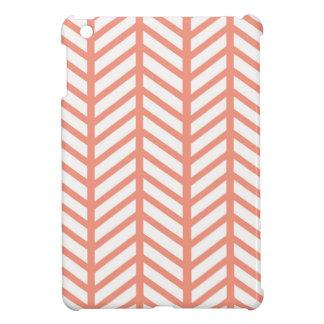 Orange Gitter-Webart iPad Mini Hülle