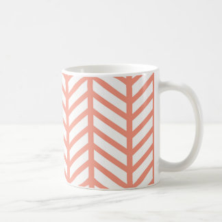 Orange Gitter-Webart Kaffeetasse