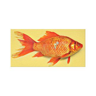 Orange Goldfisch-Malerei Leinwanddruck